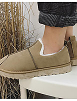 cheap -Men's Shoes Flocking Winter Snow Boots Boots for Casual Black Gray Khaki