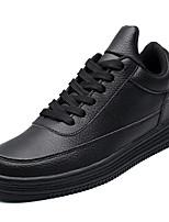 abordables -Homme Chaussures PU de microfibre synthétique Hiver Printemps Confort Basket pour Décontracté Blanc Noir Noir/blanc