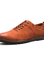 cheap -Men's Shoes Synthetic Microfiber PU Spring Fall Comfort Oxfords for Casual Black Brown