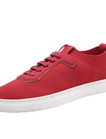 cheap -Men's Shoes Tulle Spring Fall Comfort Sneakers for Casual Black Gray Red
