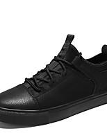 cheap -Men's Shoes Nappa Leather Spring Fall Comfort Sneakers for Casual Office & Career Black Gray