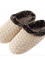 cheap -Unisex Shoes Knit Winter Fall Comfort Slippers & Flip-Flops Low Heel for Casual Beige Gray