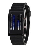 baratos -Homens Mulheres Digital Relógio de Moda Chinês Relógio Casual Silicone Banda Fashion Preta