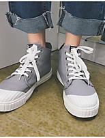 abordables -Homme Chaussures Toile Printemps Automne Confort Basket pour Décontracté Blanc Noir Gris