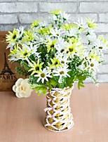 abordables -Fleurs artificielles 2 Une succursale style pastoral / Style Simple Marguerites Fleur de Table