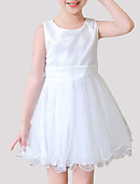 cheap -Girls' Patchwork Sleeveless Dress