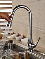 cheap -Kitchen faucet - Contemporary Standing Style Pull-out / Pull-down Vessel