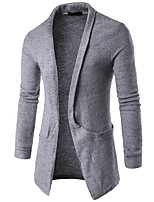 cheap -Men's Street chic Cardigan - Solid Colored