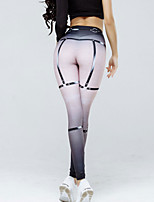 cheap -Women's Daily Going out Sporty Legging - Geometric High Waist