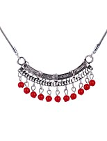cheap -Women's Drop Pendant Necklace  -  Bohemian Ethnic Red Turquoise 50cm Necklace For Party / Evening Daily