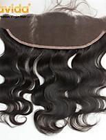 Недорогие -Yavida Все Волнистый 4X13 Закрытие Бразильские волосы Естественные кудри Швейцарское кружево Remy Бесплатный Часть С детскими волосами