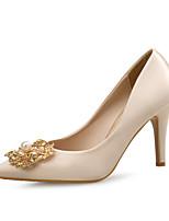 abordables -Femme Chaussures Paillette Brillante / Soie Printemps / Automne Confort Chaussures à Talons Talon Aiguille Bout pointu Strass / Perle