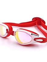 Недорогие -плавательные очки плавательные очки Водонепроницаемость Защита от солнца силиконовый Поликарбонат красный розовый черный Темно-синий