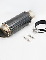 cheap -C19 60mm Stainless steel Exhaust Mufflers For Motorcycles Universal