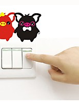 cheap -Wall Decal Light Switch Stickers Fridge Stickers - Plane Wall Stickers Animals Removable