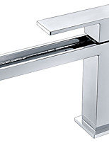 cheap -Bathroom Sink Faucet - Waterfall Chrome Vessel Single Handle One Hole