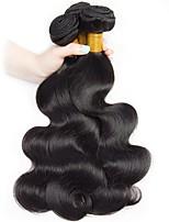 Недорогие -3 Связки Малазийские волосы Естественные кудри Натуральные волосы Человека ткет Волосы / Накладки из натуральных волос 8-28 дюймовый Естественный цвет Ткет человеческих волос