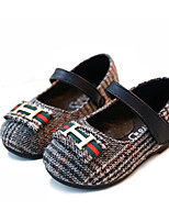 cheap -Girls' Shoes Synthetic Spring Fall Flower Girl Shoes First Walkers Flats for Casual Black Brown