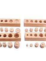 Недорогие -Socket Blocks Toy Обучающая игрушка Семья Взаимодействие родителей и детей деревянный 24pcs Высокое качество Детские Подарок