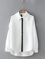 cheap -Women's Vintage Blouse-Solid Colored,Tassel