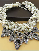 cheap -Women's Flower Collar Necklace Statement Necklace  -  Oversized Sweet Black 45cm Necklace For Wedding Evening Party