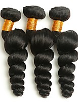 cheap -Brazilian Hair Wavy Human Hair Weaves 50g x 3 Hot Sale Extention Human Hair Extensions All Christmas Gifts Christmas Wedding Party