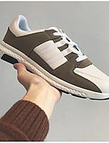 preiswerte -Herrn Schuhe Kunstleder Frühling Komfort Sneakers Schwarz / Blau / Khaki