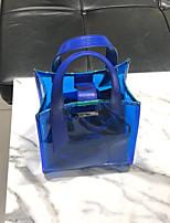 cheap -Women's Bags PVC(PolyVinyl Chloride) / PU(Polyurethane) Bag Set 2 Pieces Purse Set Buttons Blue / Blushing Pink
