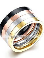 cheap -Men's Cool Stainless Steel Ring Set - 4pcs Circle Rock Rainbow Ring For Daily / Work