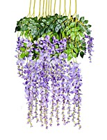 baratos -Flores artificiais 1 Ramo Pastoril Estilo Plantas Guirlandas & Flor de Parede