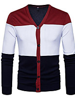 cheap -Men's Street chic Cardigan - Color Block