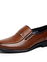 cheap -Men's Shoes Patent Leather Spring Fall Comfort Loafers & Slip-Ons for Office & Career Party & Evening Black Brown