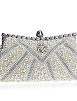 cheap -Women's Bags Beaded Polyester Evening Bag Beading for Event / Party Casual All Seasons White Black Beige