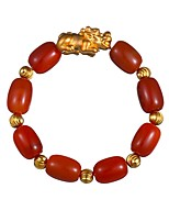 cheap -Men's 1pc Strand Bracelet - Animals Vintage Circle Dark Red Bracelet For Daily Festival