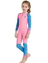 Недорогие -Девочки Тонкий гидрокоостюм SPF30, УФ-защита от солнца, Быстровысыхающий Нейлон / Спандекс Чехол Одежда для пляжа Гидрокостюмы Плавание /