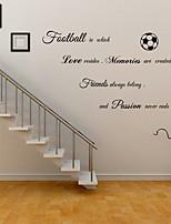 baratos -Autocolantes de Parede Decorativos - Etiquetas de parede de palavras e citações Personagens Futebol Americano Sala de Estar Quarto das
