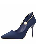 abordables -Femme Chaussures Cuir Nubuck Printemps / Automne Confort / Escarpin Basique Chaussures à Talons Talon Aiguille Noir / Gris / Bleu royal