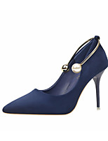 preiswerte -Damen Schuhe Nubukleder Frühling / Herbst Komfort / Pumps High Heels Stöckelabsatz Schwarz / Grau / Königsblau