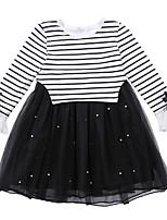 cheap -Kids Girls' Striped Long Sleeves Dress
