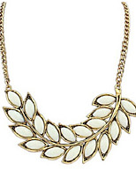 cheap -Women's Leaf Pendant Necklace  -  Elegant Sweet White Pink 42cm Necklace For Wedding Evening Party