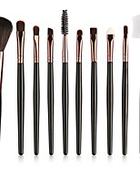 cheap -10-Pack Makeup Brushes Professional Makeup Brush Set / Eyeshadow Brush / Lip Brush Nylon Full Coverage Plastic Portable / Universal