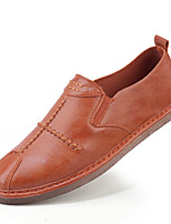 cheap -Men's Shoes Leather Spring Summer Comfort Loafers & Slip-Ons for Casual Outdoor White Black Orange