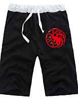 cheap -Inspired by Dragon Ball Dragon Anime Cosplay Costumes Cosplay Tops / Bottoms Solid Colored Anime Mid Length Pant Shorts For All