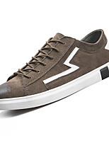 Недорогие -Муж. обувь Полиуретан Весна / Осень Удобная обувь Кеды Для прогулок Черный / Хаки