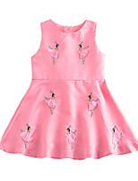 cheap -Kids Girls' Geometric Sleeveless Dress