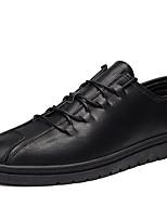 baratos -Homens sapatos Micofibra Sintética PU Primavera Outono Sapatos formais Conforto Oxfords para Casual Preto Cinzento Marron