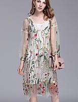 preiswerte -Damen Grundlegend Bluse - Blumen, Spitze Kleid