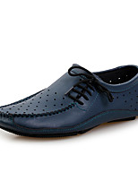 cheap -Men's Shoes Leatherette Spring Summer Comfort Loafers & Slip-Ons for Casual Office & Career Black Gray Brown Blue
