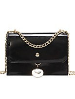 cheap -Women's Bags PU Shoulder Bag Zipper for Casual Black / Silver / Blushing Pink
