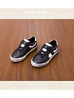 abordables -Garçon Chaussures PU de microfibre synthétique Printemps Automne Confort Basket pour Décontracté De plein air Blanc Noir Blanc / Bleu